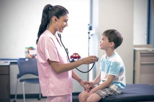 Galen nurse and little patient