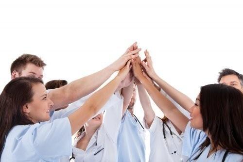 team up hands