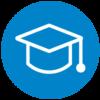 Galen College grad hat logo